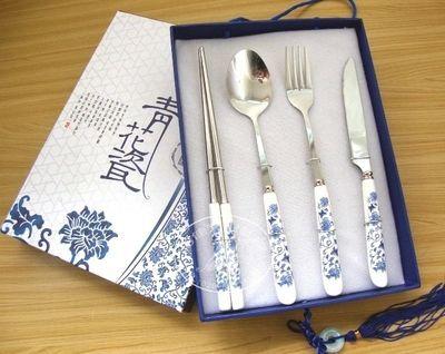 青花瓷餐具 刀叉勺筷餐具必威体育首页  创意餐具必威体育首页个性必威betway电竞
